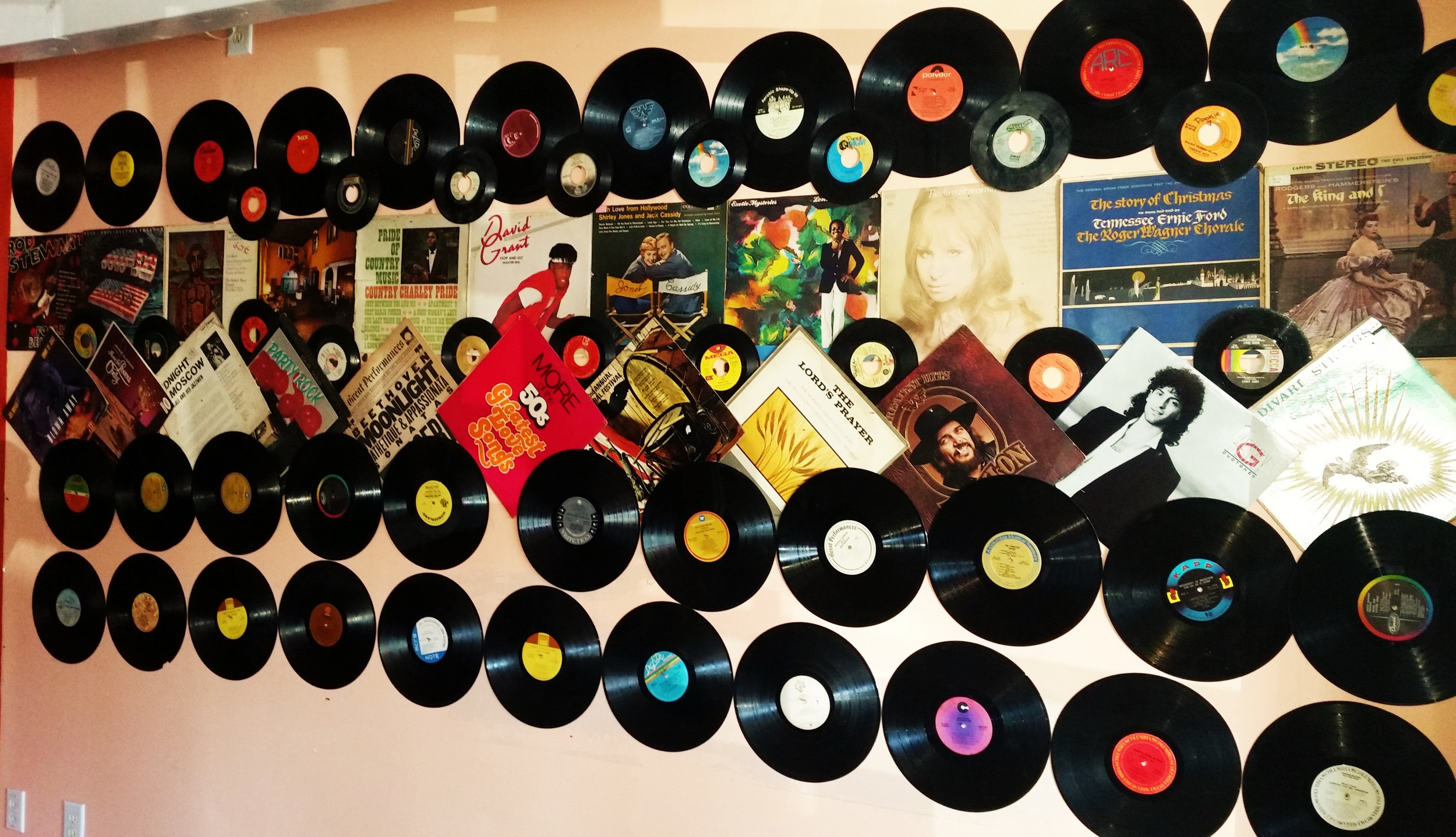 How cool is this wall of albums??!!  This is one of waiting areas.