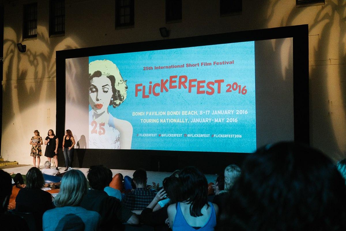 Writer/director Sunday Emerson Gullifer introduces the film, alongside Festival Director Bronwyn Kidd and producer Lauren Eisinger. Thanks to  MEAT  stills photographer Stephen Godfrey for capturing the moment.