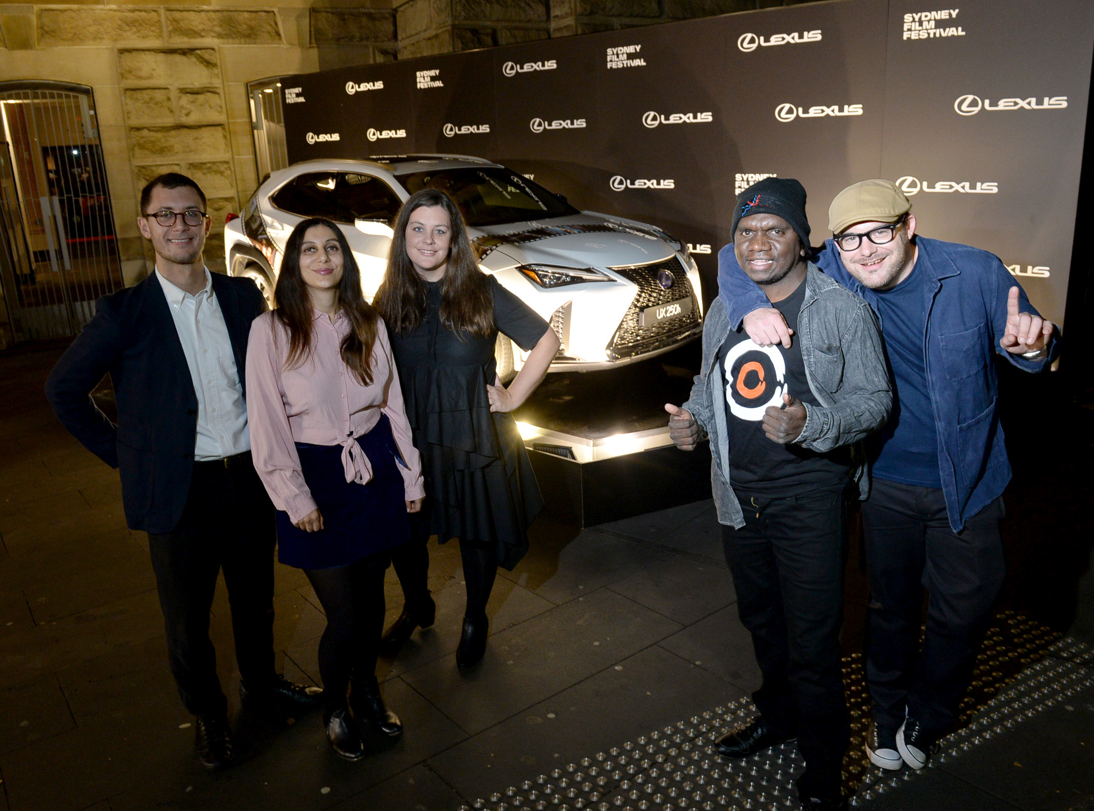 Pictured alongside the other 2018 Lexus Australia Short Film Fellowship recipients, Jamieson Pearce, Melissa Anastasi, Curtis Taylor and Nathan Mewett.