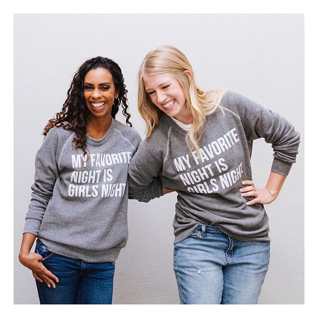 Every friend group needs matching shirts. Right?? 🙋🏼‍♀️🙋🏽‍♀️🙋🏾‍♀️🙋🏻‍♀️ ⠀ ⠀ Friends, our biggest sale of the year in my shop ends in just a few hours and we are selling out of things right and left! ⠀ If you've had your eye on something (a t-shirt, a Girls Night sweatshirt, or any of our mugs!) make SURE you check out the sale soon!⠀ ⠀ We are running low on all of our styles and some of them are actually being discontinued! So this will be your last chance to get them! ⠀ ⠀ Click the link in my profile to shop the sale! It ends at midnight TONIGHT! 💕💕⠀ ⠀ P.S. love this photo with my dear friend @briannaglenn. It was taken my other dear friend, @tahjahharmony!