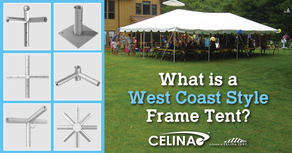 What is a West Coast Style Frame Tent? — Celina Tent – Party