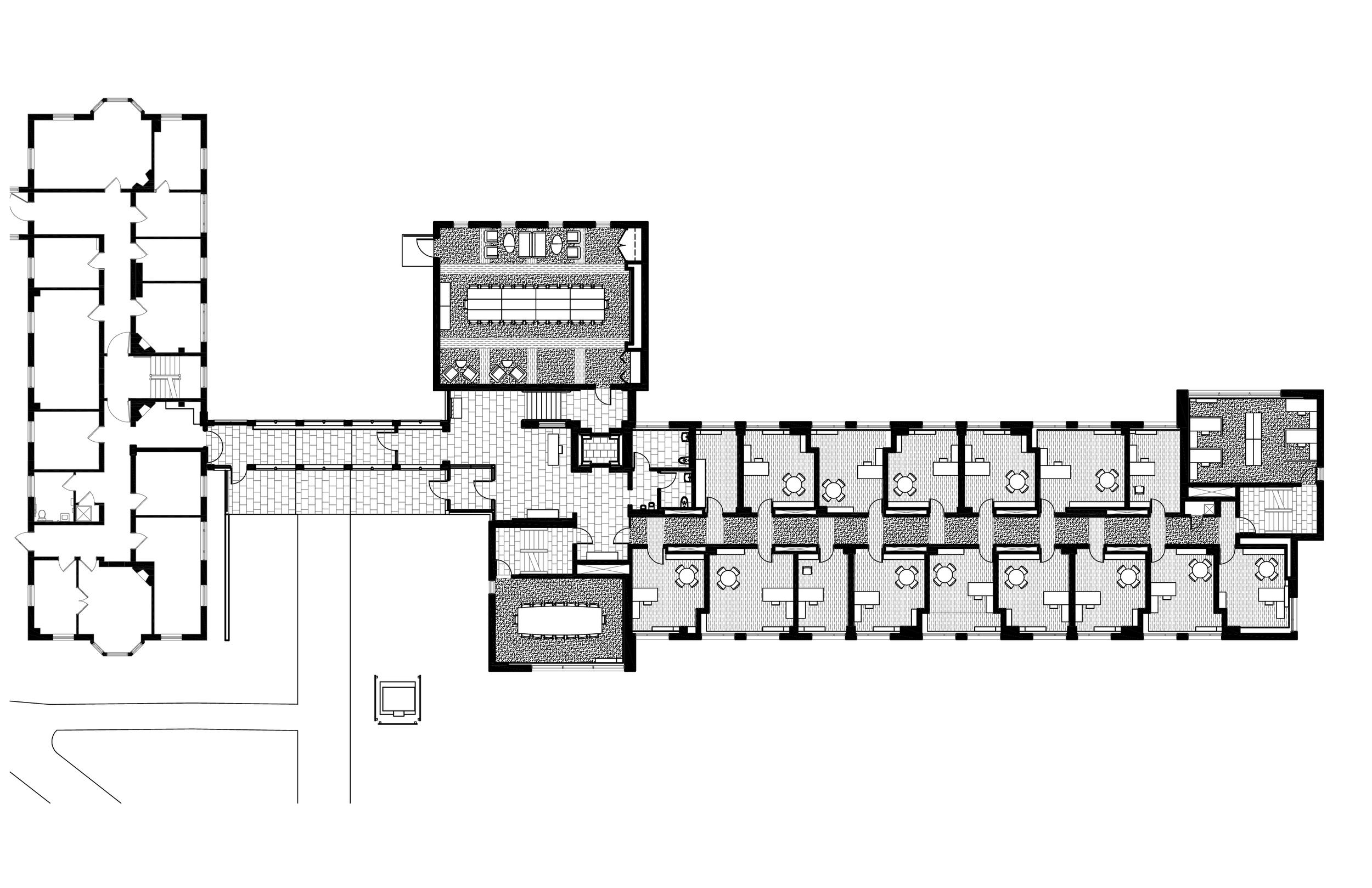 Buchanan Hall ground level plan
