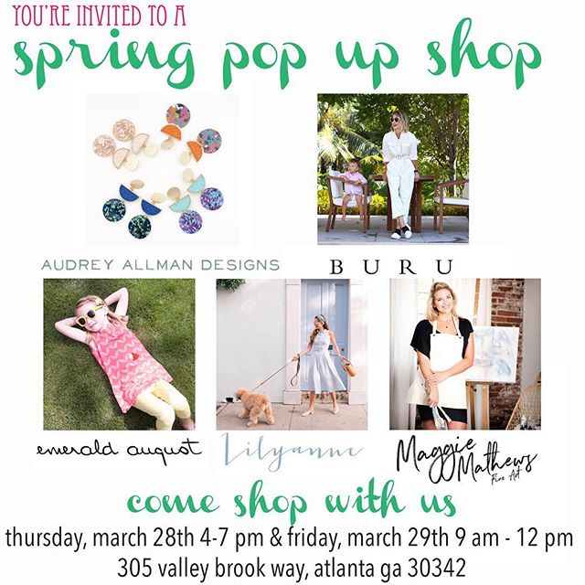 Flowers are poppin, Pollen is droppin and  it truly feels like Springtime! Come see us this Thursday 4-7 and Friday 9am- 12pm in Meadowbrook for a fab Pop up you won't want to miss! 💐🐣