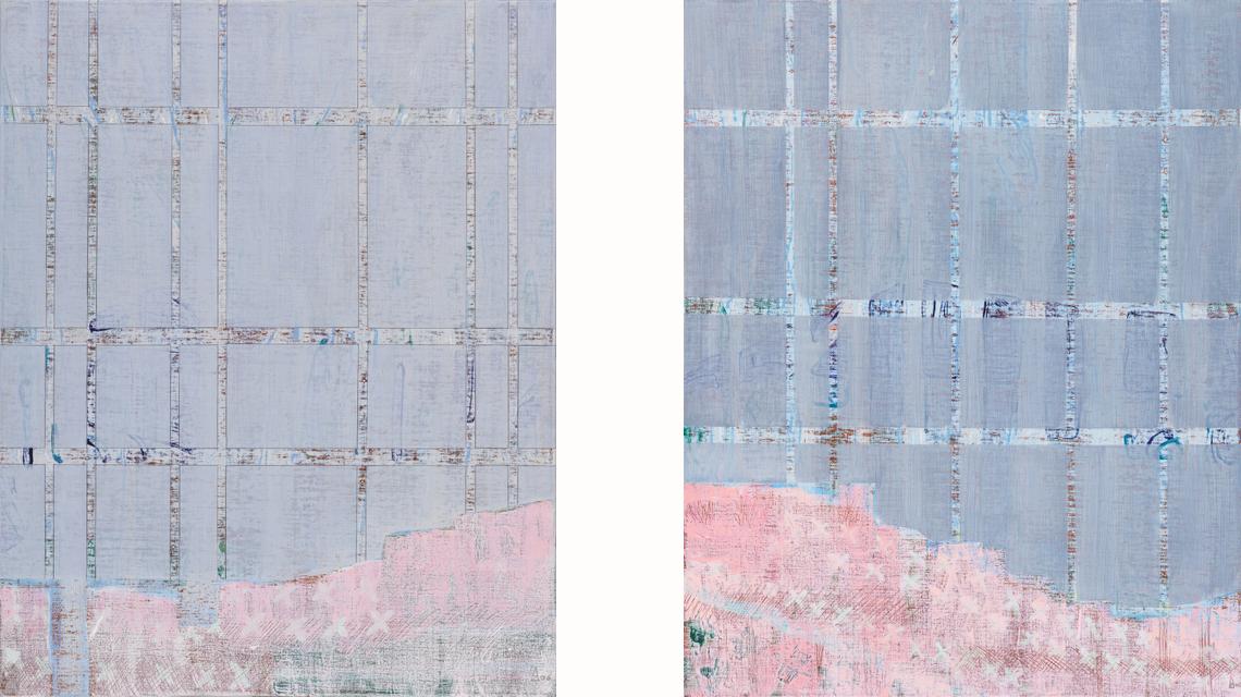 Sous bois I & II 81x65 cm, 2006