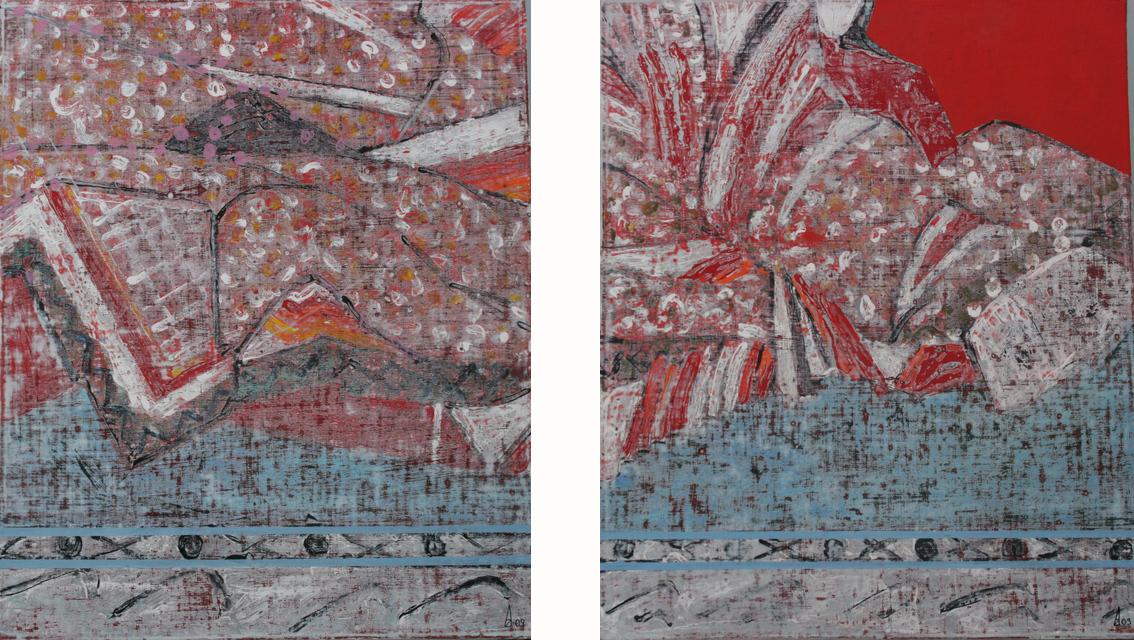 Rakosen I & II 65x55 cm, 2009