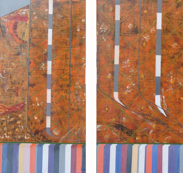 J'ai perdu le chemin de l'envie III & IV 100x50 cm, 2010