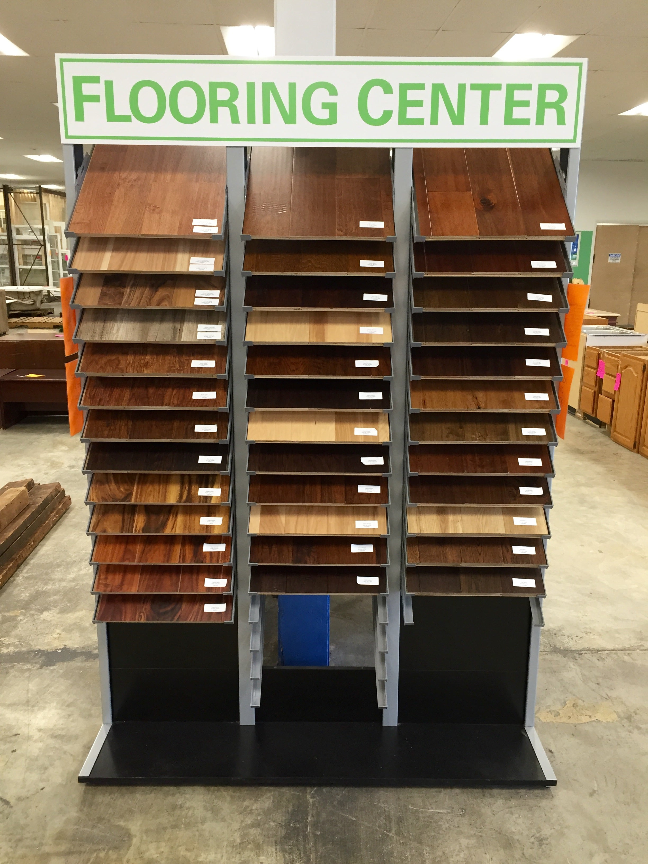 flooring center display