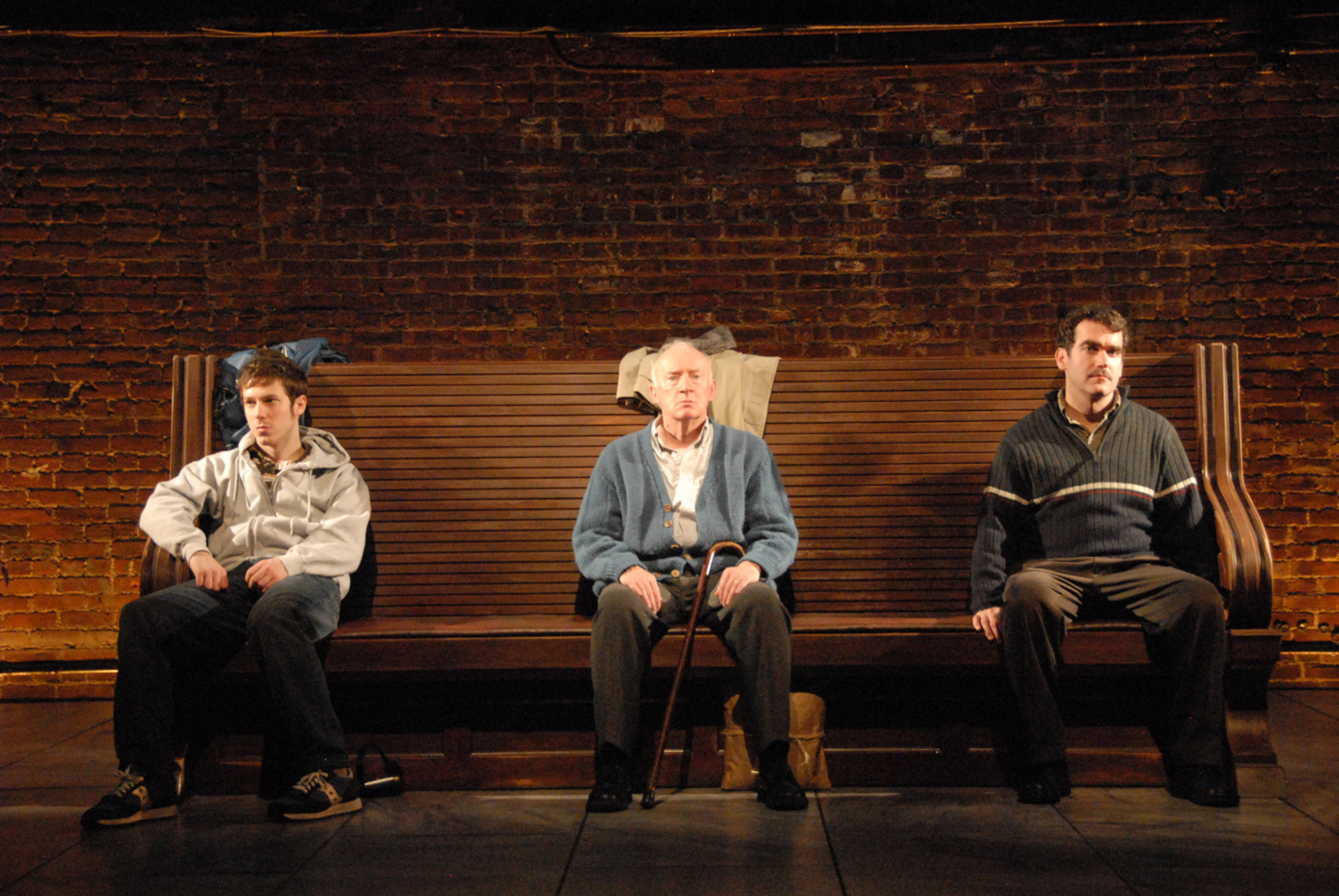 PORT AUTHORITY. THE ATLANTIC, 2008. JOHN GALLAGHER, JR., JIM NORTON, BRIAN D'ARCY JAMES. PHOTO: SARA KRULWICH.
