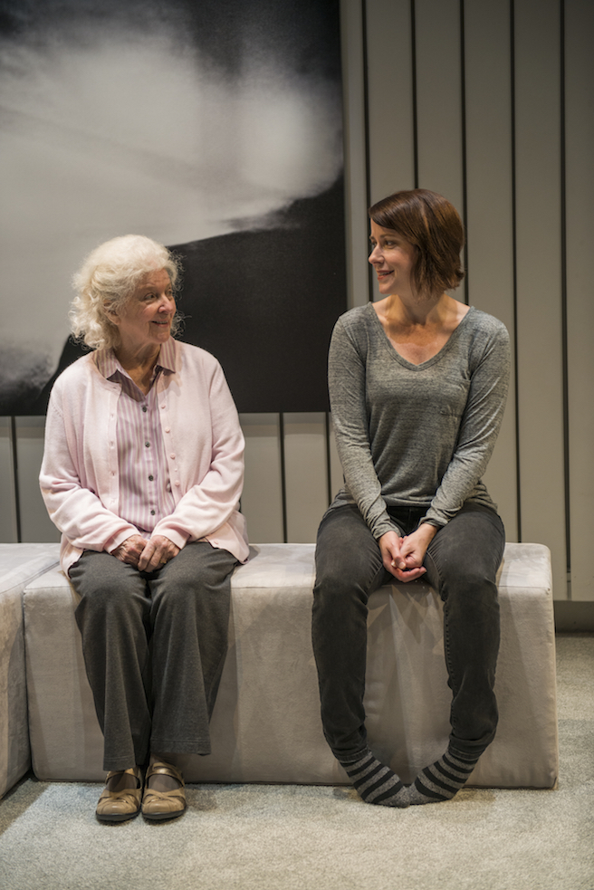 MARJORIE PRIME. WRITERS THEATRE, 2015. MARY ANN THEBUS, KATE FRY. PHOTO: MICHAEL BROSILOW.