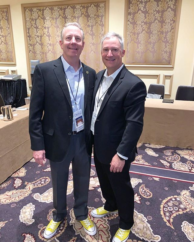 Some #ootd inspo for you all. @khitzemann and @daveo_1011 rocking their yellow #ChuckTaylors during their session at LBG Advisor's 2019 Benefits Symposium today. They shared how employers can go back to the glory days and take back control of their #healthcare. 🙌