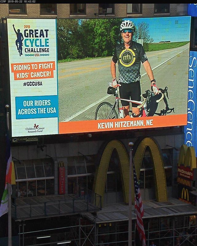 💛 When you see a #Maestronite like @khitzemann raising money to help fight kids' cancer with @greatcyclechallenge AND making his way onto a Times Square billboard, you spread the kindness & make a donation to his cause. Link in bio to donate.