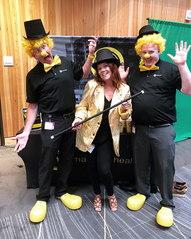 Just clownin' around with some of our favorite FSA #mCLIENTS, @utsystem, at their 2019 Benefits and Human Resources Conference.