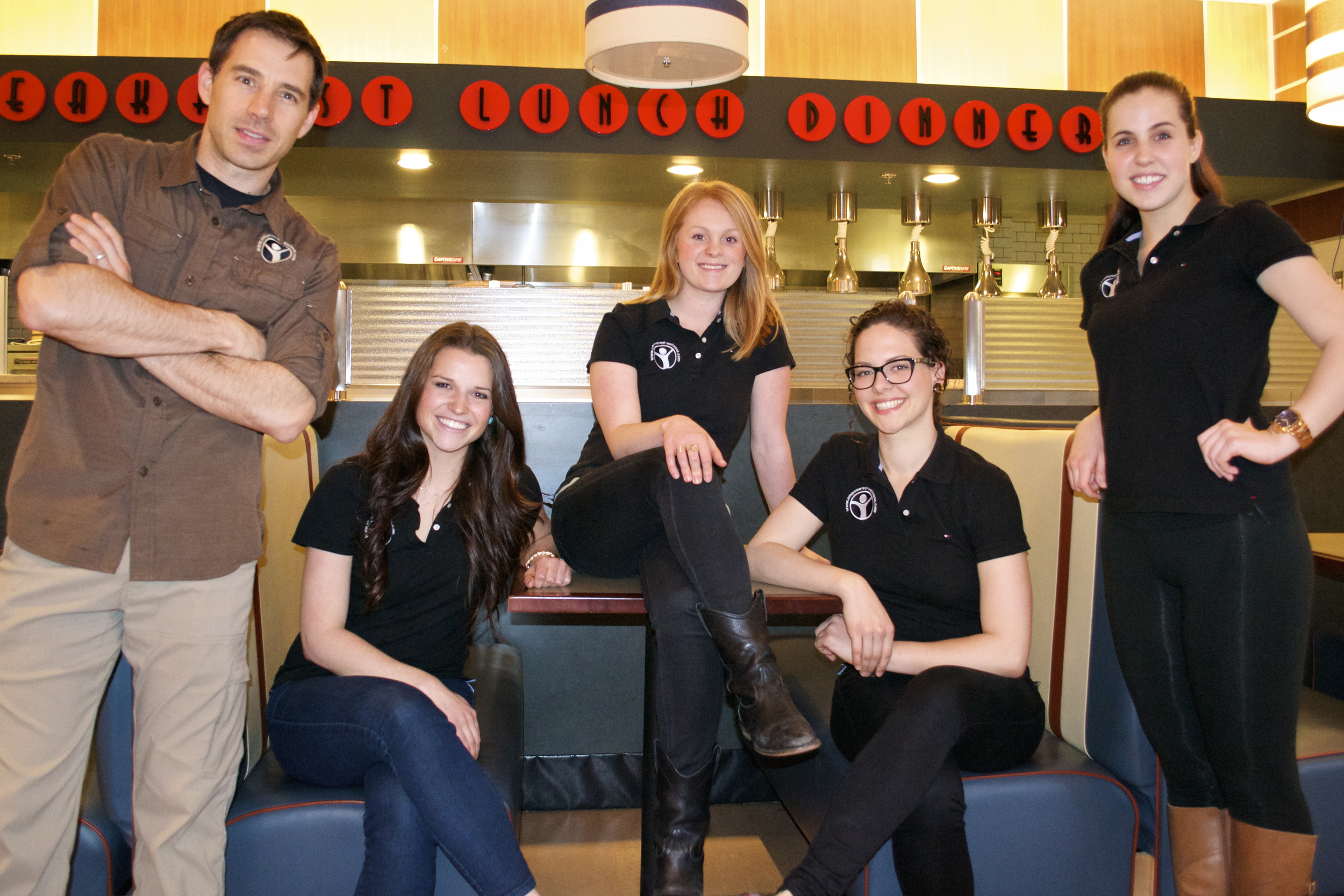 A few of our amazing After School Program Coaches: (Left to right) Ryan, Taylor, Kate, Ayra and Nicole.