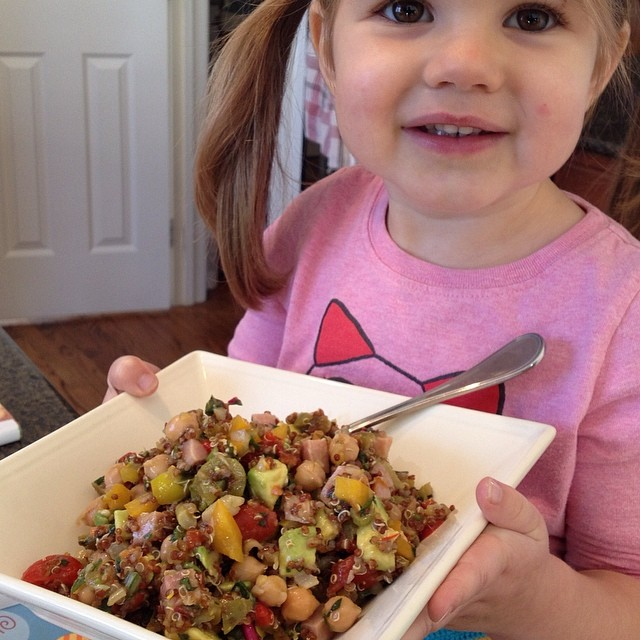 Kids eat what they grow and cook. So try an herb or veggie garden and getting some kid safe knives for cooking real food together.  Our kids LOVE superfood salads when they help make them.  #empoweredwellness #integratemorewholefoods