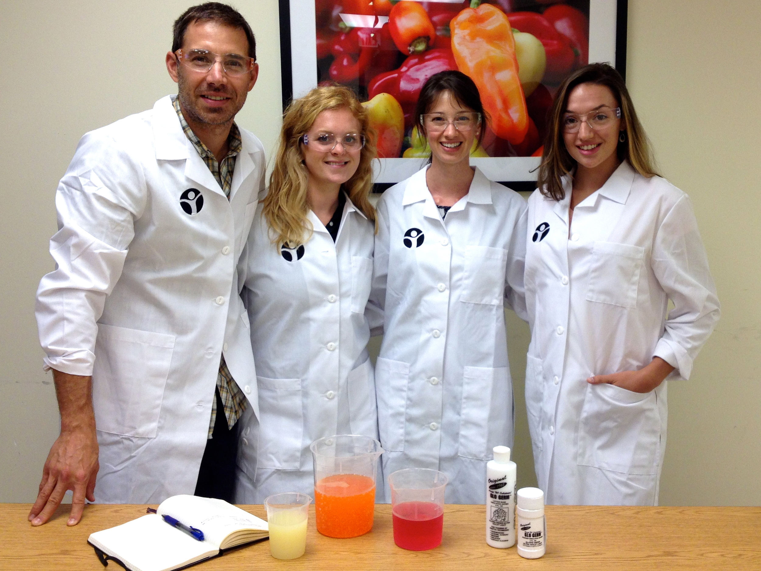 Food Science Camp staff: (Left to right) Ryan, Kate, Katie and Kayla