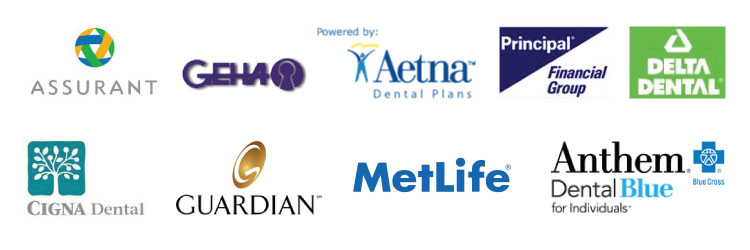 Metlife, Aetna PPO, Guardian, Assurant, Delta Dental are some of the dental insurances that we accept