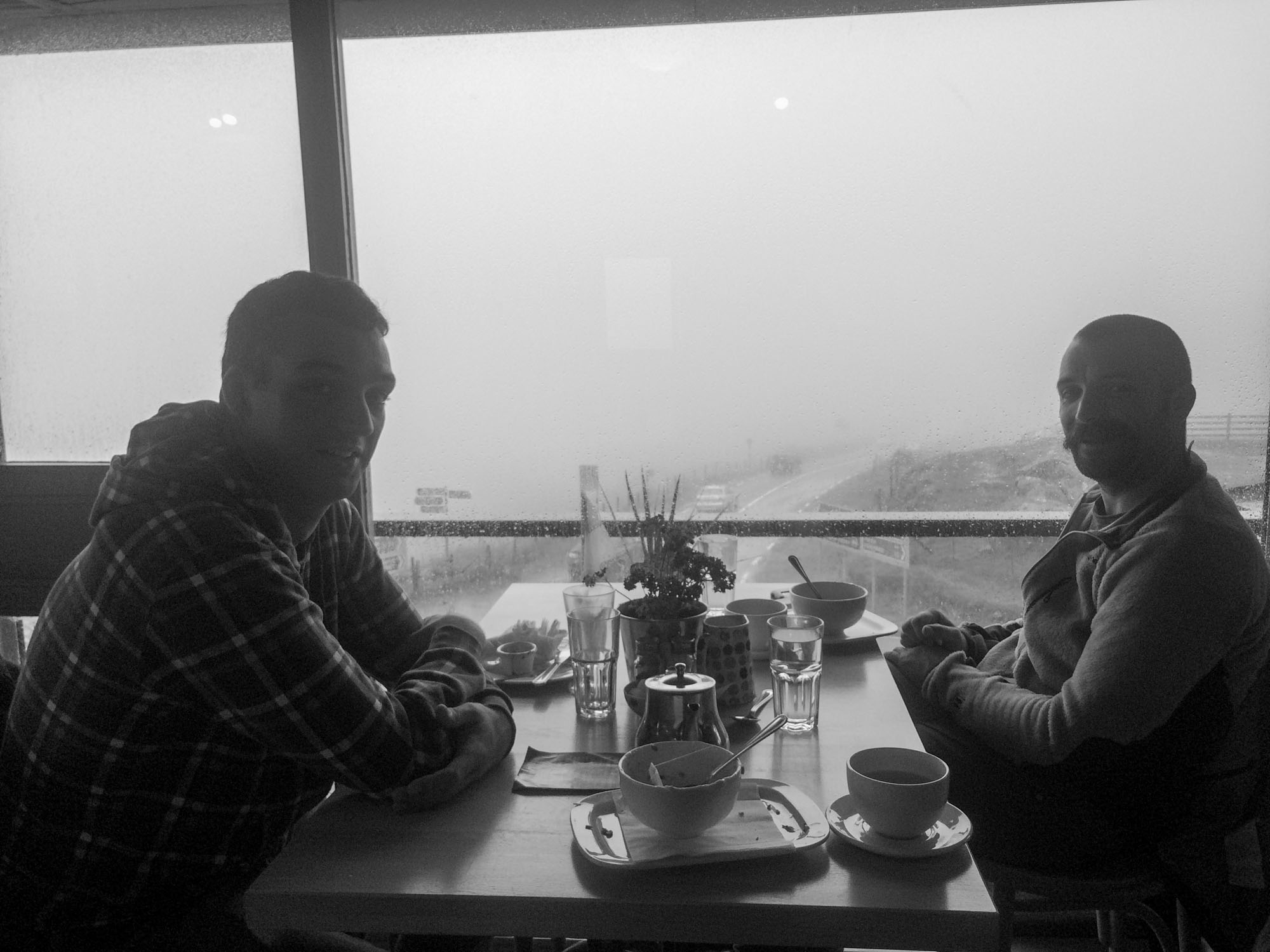 Dara & Ollie 'the A team' taking a tea break from the filming duties in Killarney