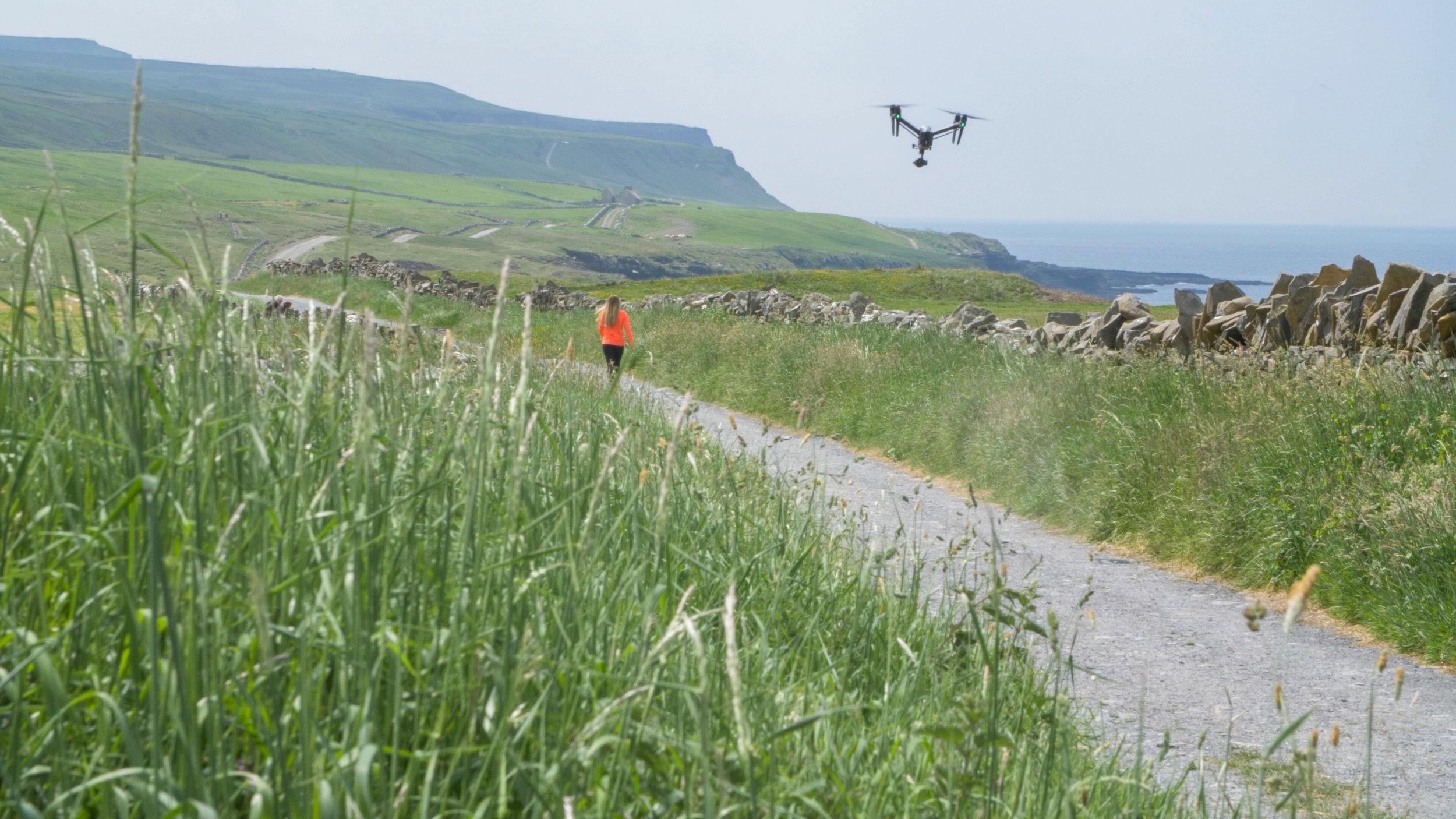 Niamh walking near doolin