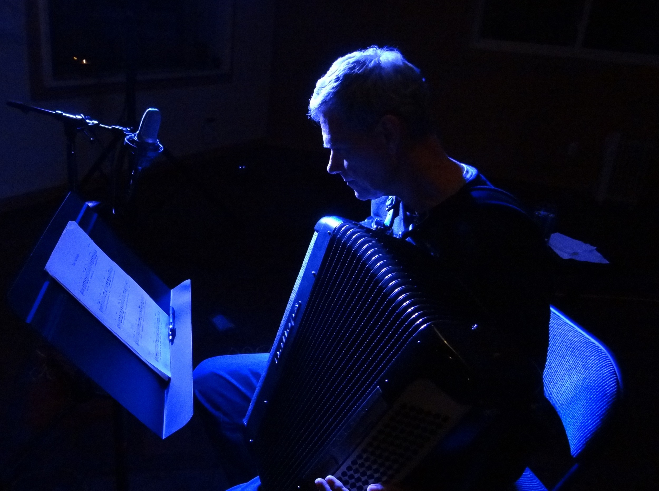 """Michael Lawson's accordion graces """"This Old Dream"""" and """"Carry On""""."""