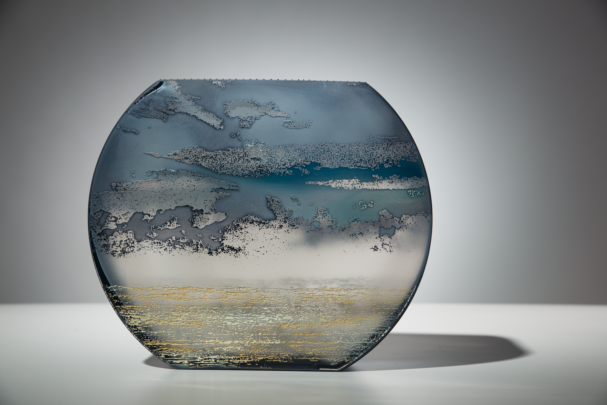 "large flat fishbowl 7"""