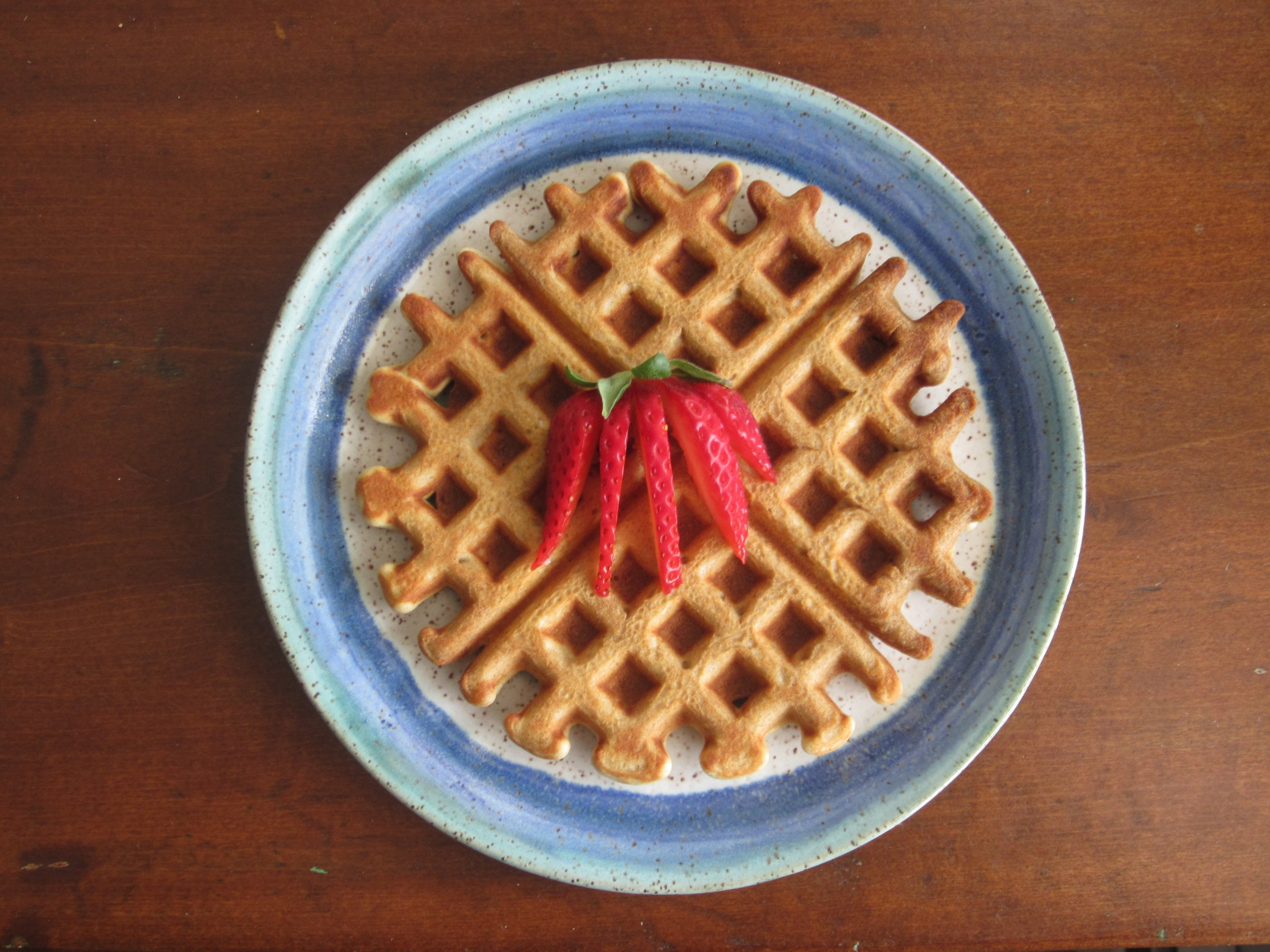 Buckwheat waffles are easy and delicious.