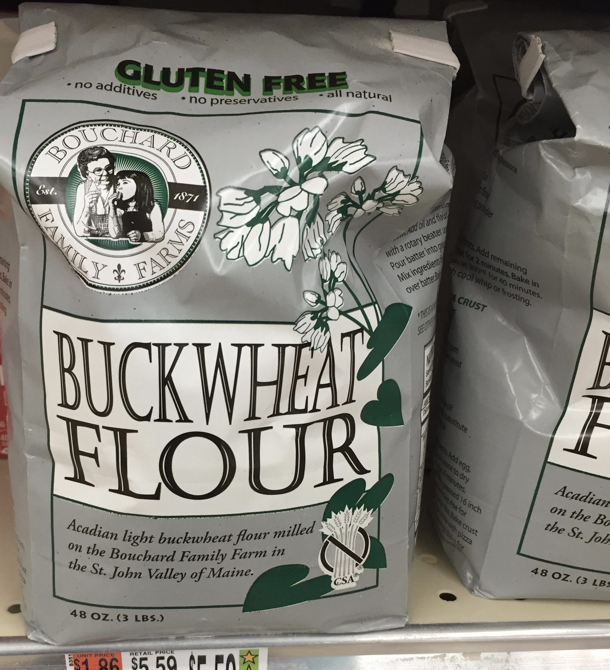 Siver-hulled buckwheat flour, grown in northern Maine, makes great waffles!