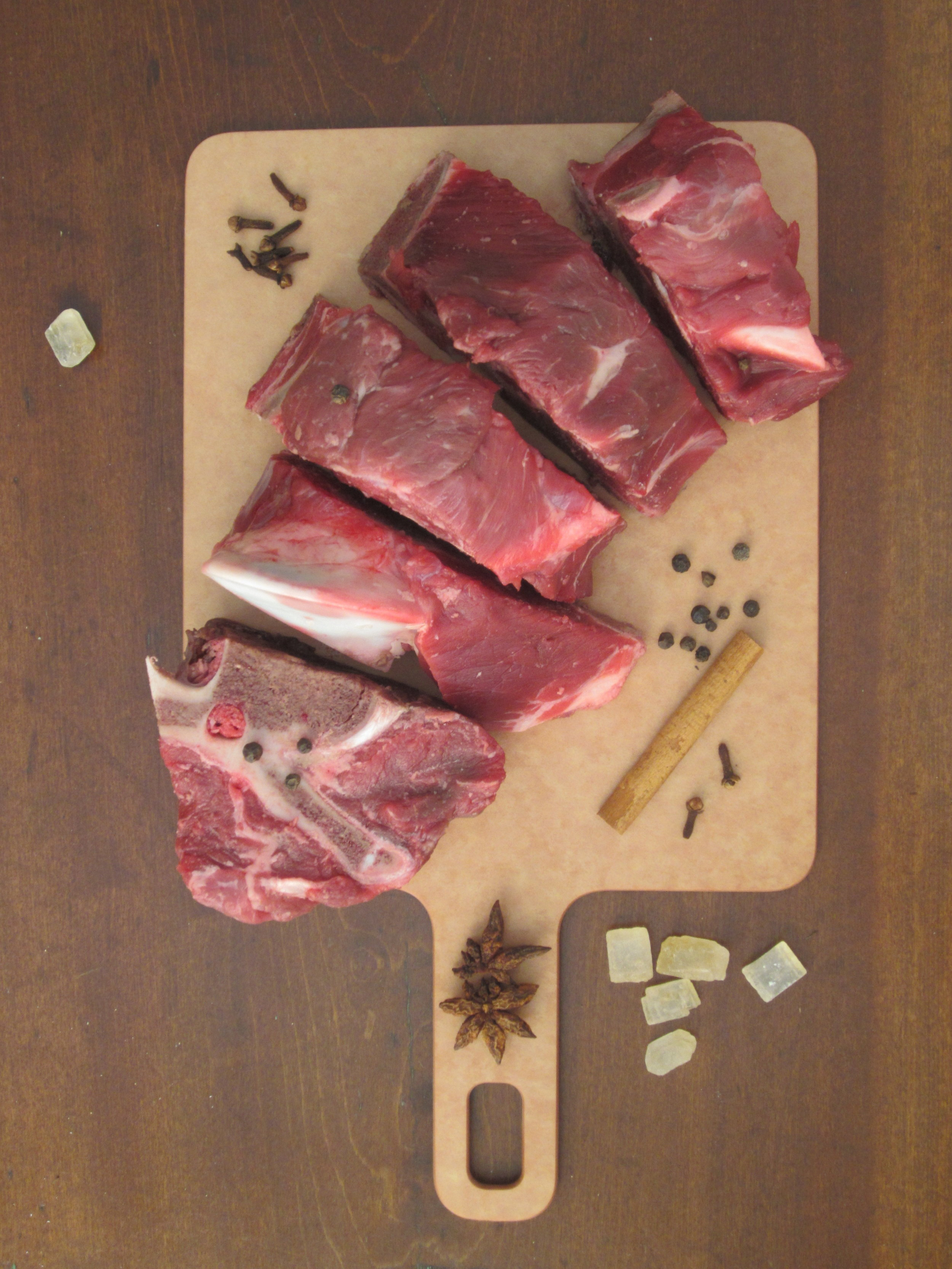 Beef is a good source of protein on a low- FODMAP diet. These ingredients will make a tasty Asian-style broth for a beef soup: meaty bones, cloves, peppercorns, stick cinnamon, whole anise and yellow rock sugar.