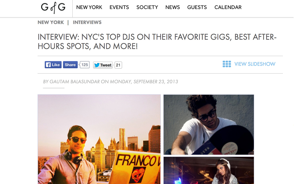 Guest of a Guest: NYC's Top DJ's
