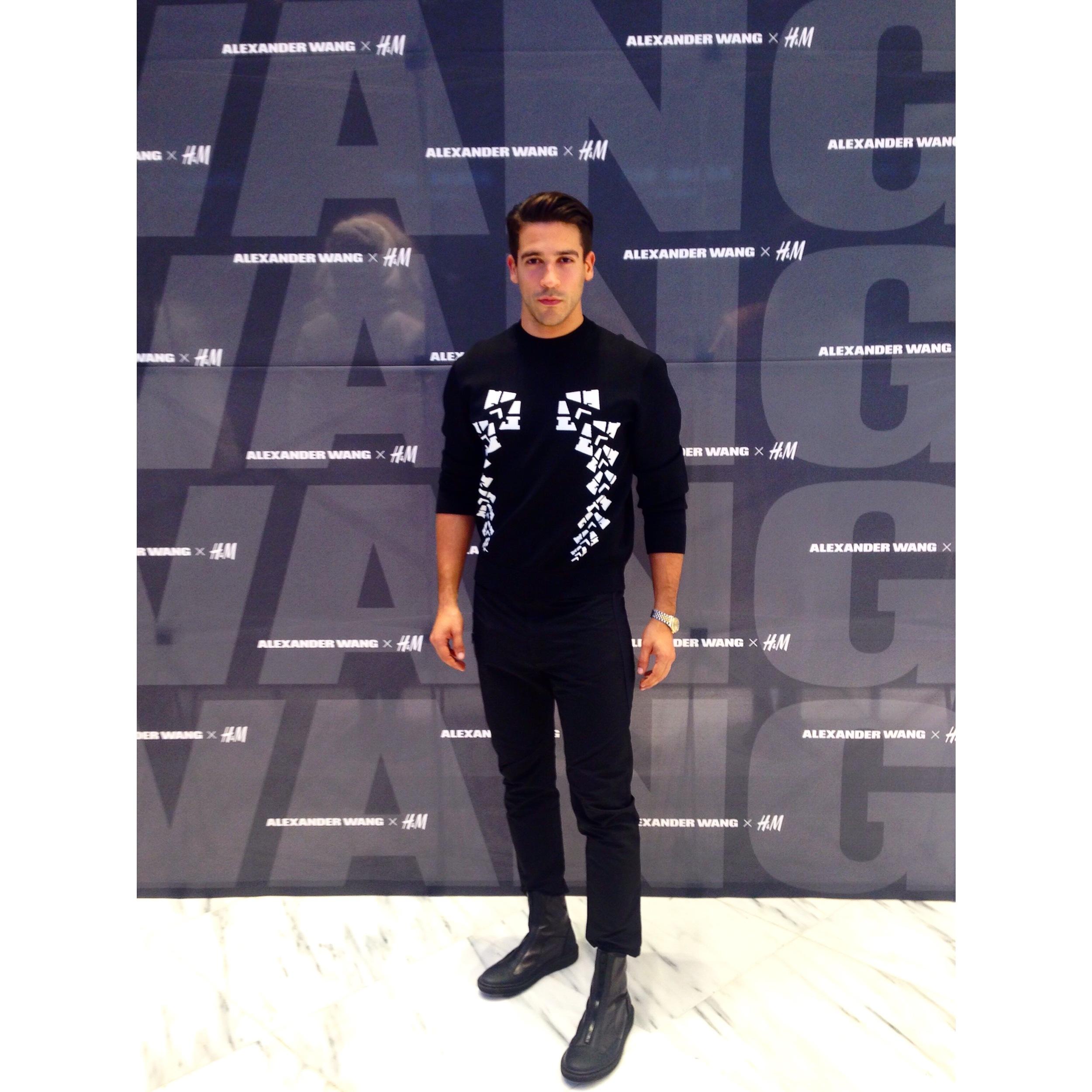 Franco V DJing for H&M x Alexander Wang