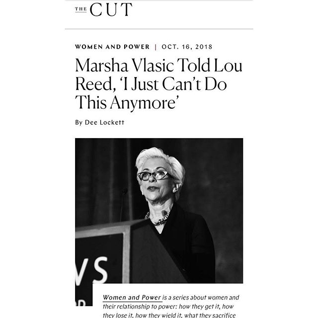 Amazing article up on The Cut about my mom and the doors she had to bust through as a woman in the music industry! https://www.thecut.com/2018/10/women-and-power-marsha-vlasic.html ❤️❤️❤️