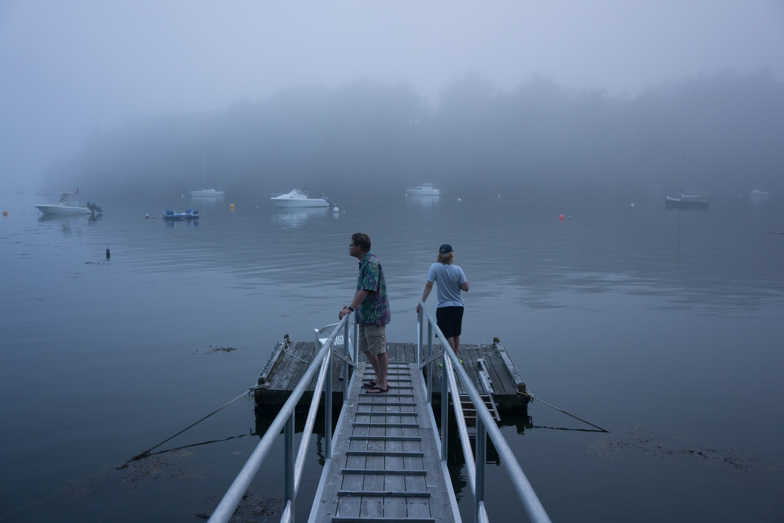 Calm of Fog at High Tide