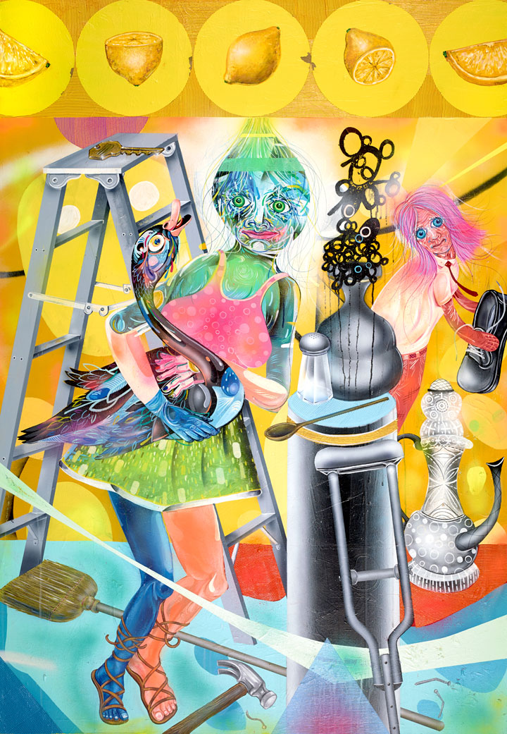 Clayton Brothers    Time Will Only Tell    Mixed media on canvas  2014  50 x 72 In  $30,000.00