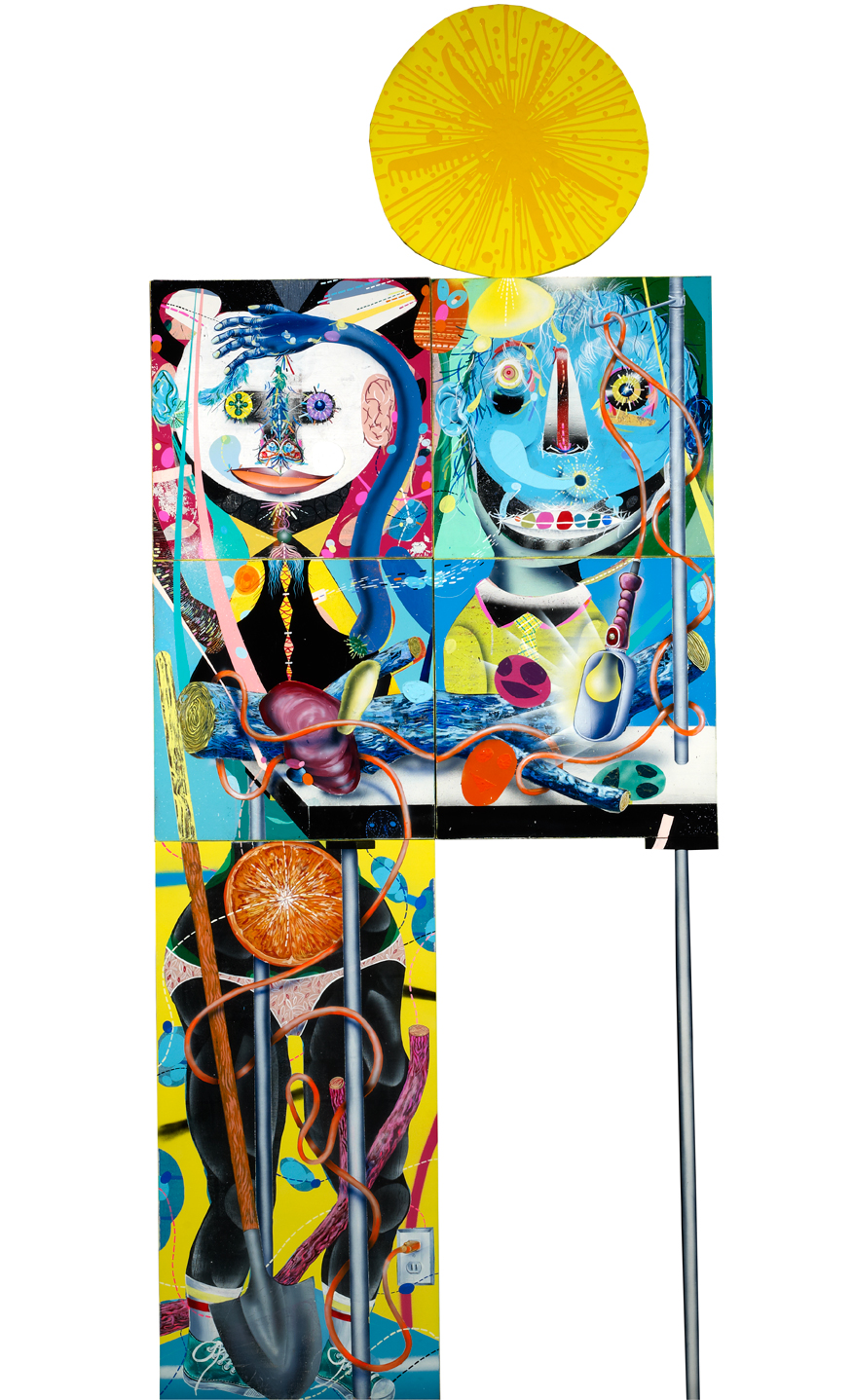 Clayton Brothers    Absurdity in Natural Light    Mixed media on canvas and wood panel  2013  100 x 40 In  $25,000.00