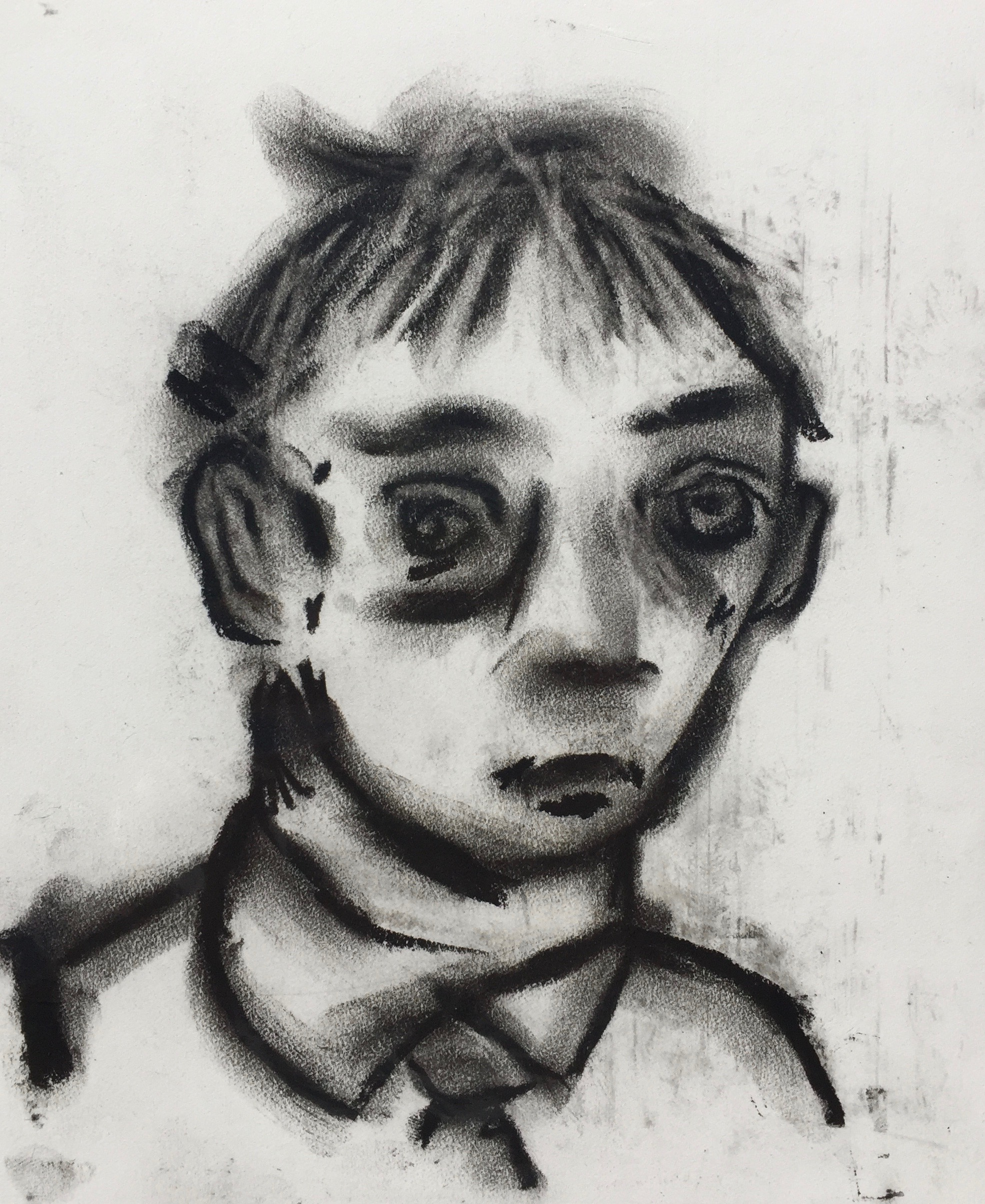 Me    Charcoal on paper  2011  7 x 8.5 In  $700.00
