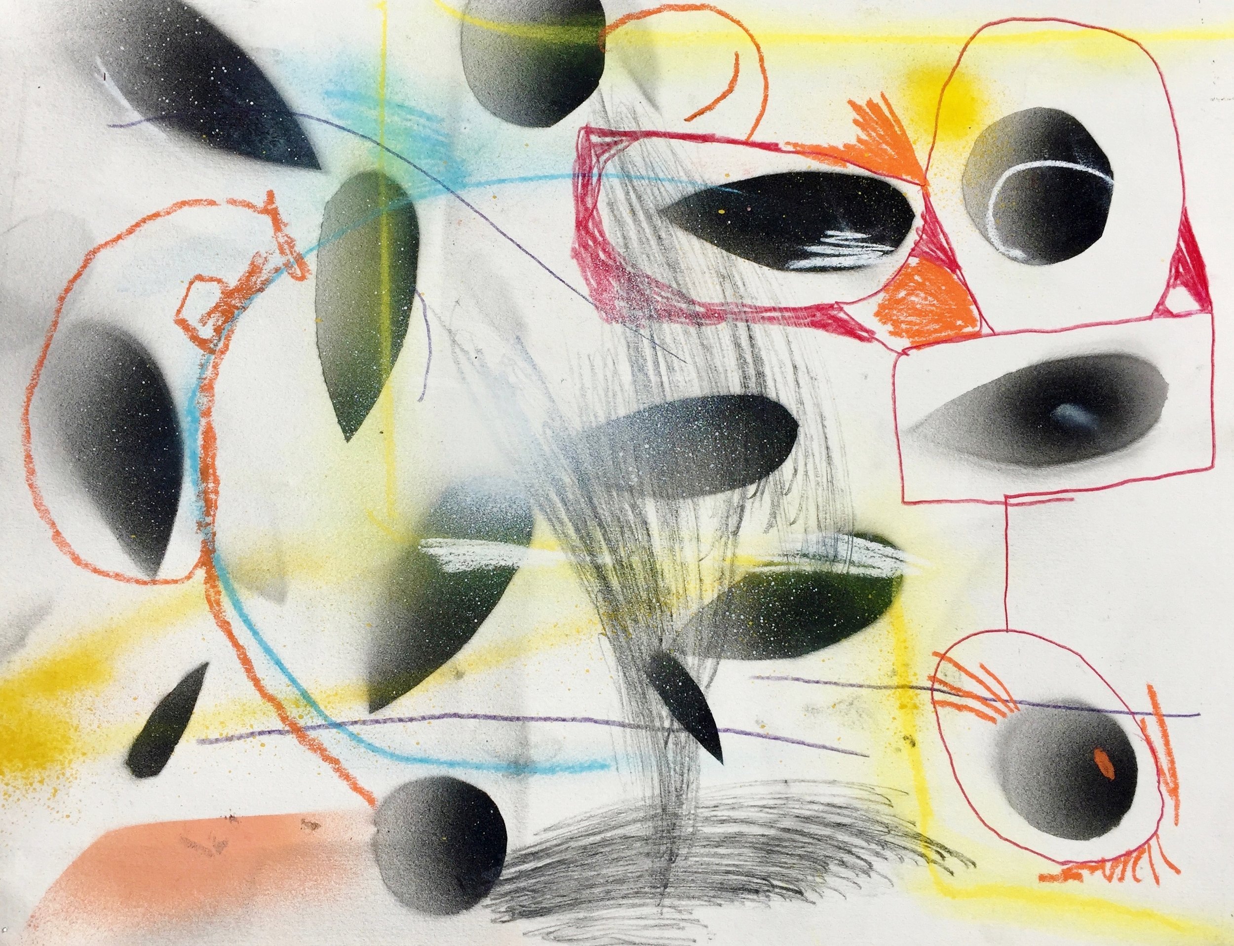 Drawing Room (141)    Mixed media on paper  2013  14 x 11 In  $2,500.00