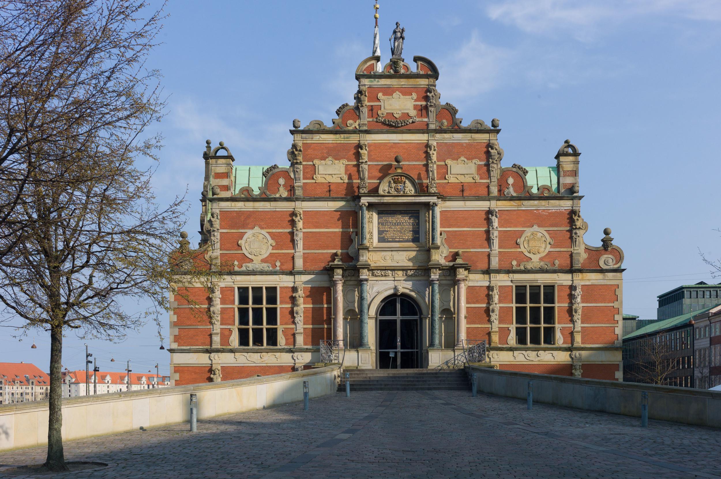 Borsen - the Bourse or Exchange - building work began in 1619