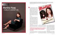 Intervju med Martina Haag för Konsulten, april 2010.   Foto:Anna-Lena Ahlström