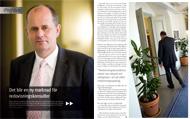 Intervju med finansmarknadsminister Peter Norman för Konsulten, mars 2011.   Foto: Mats Åsman