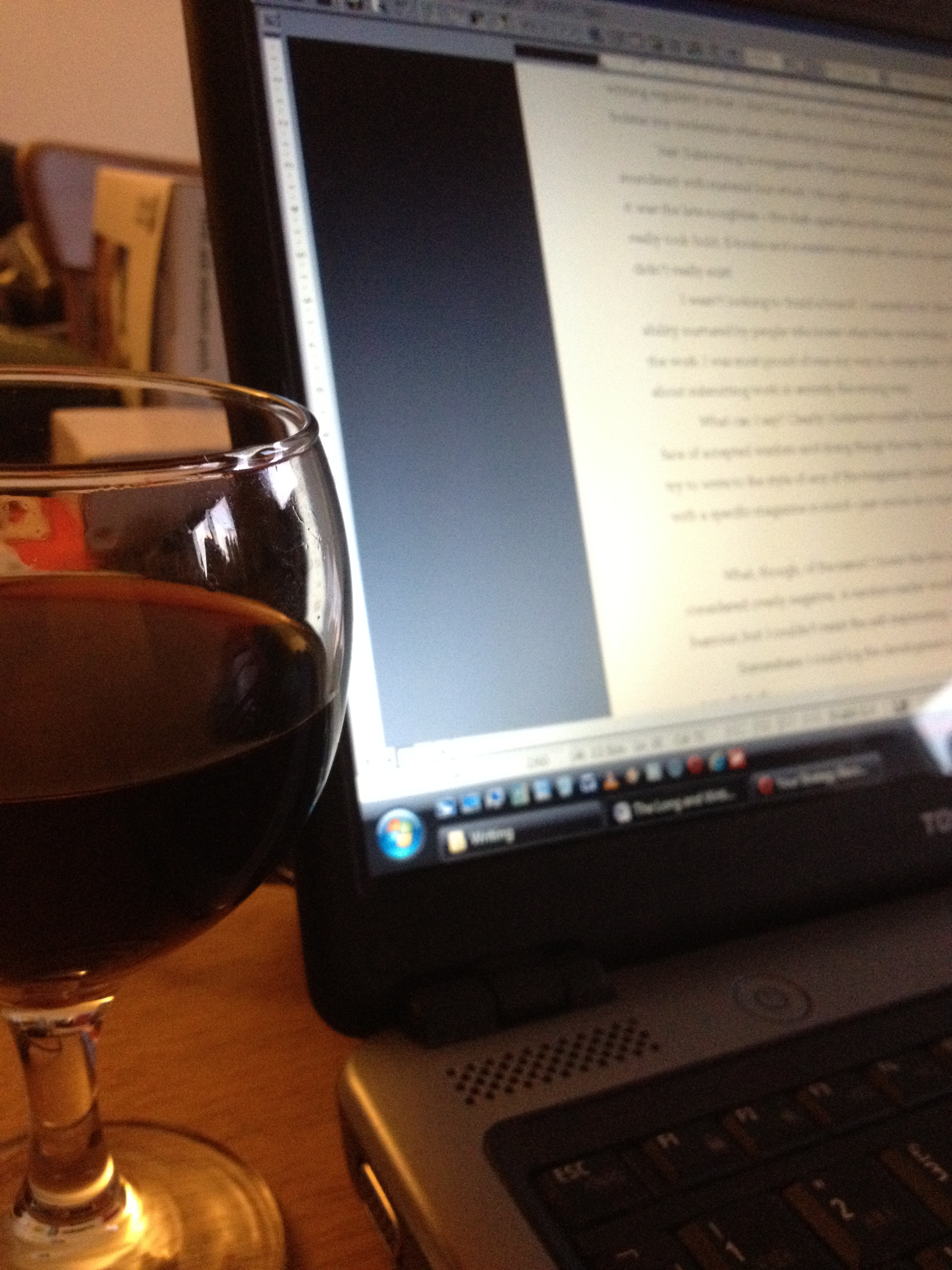 Writing with a tipple