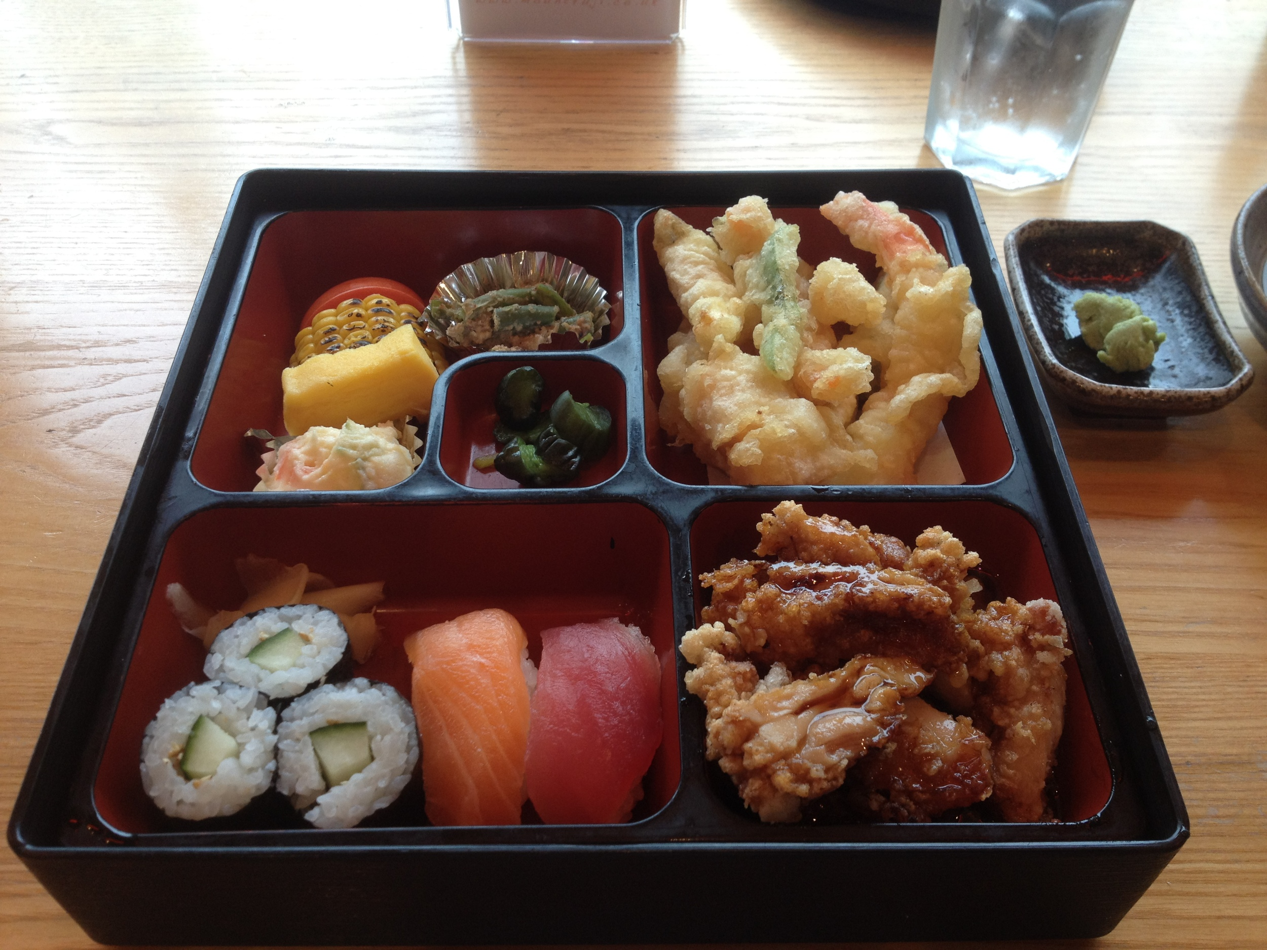 Bento box at Mount Fuji restaurant, Birmingham