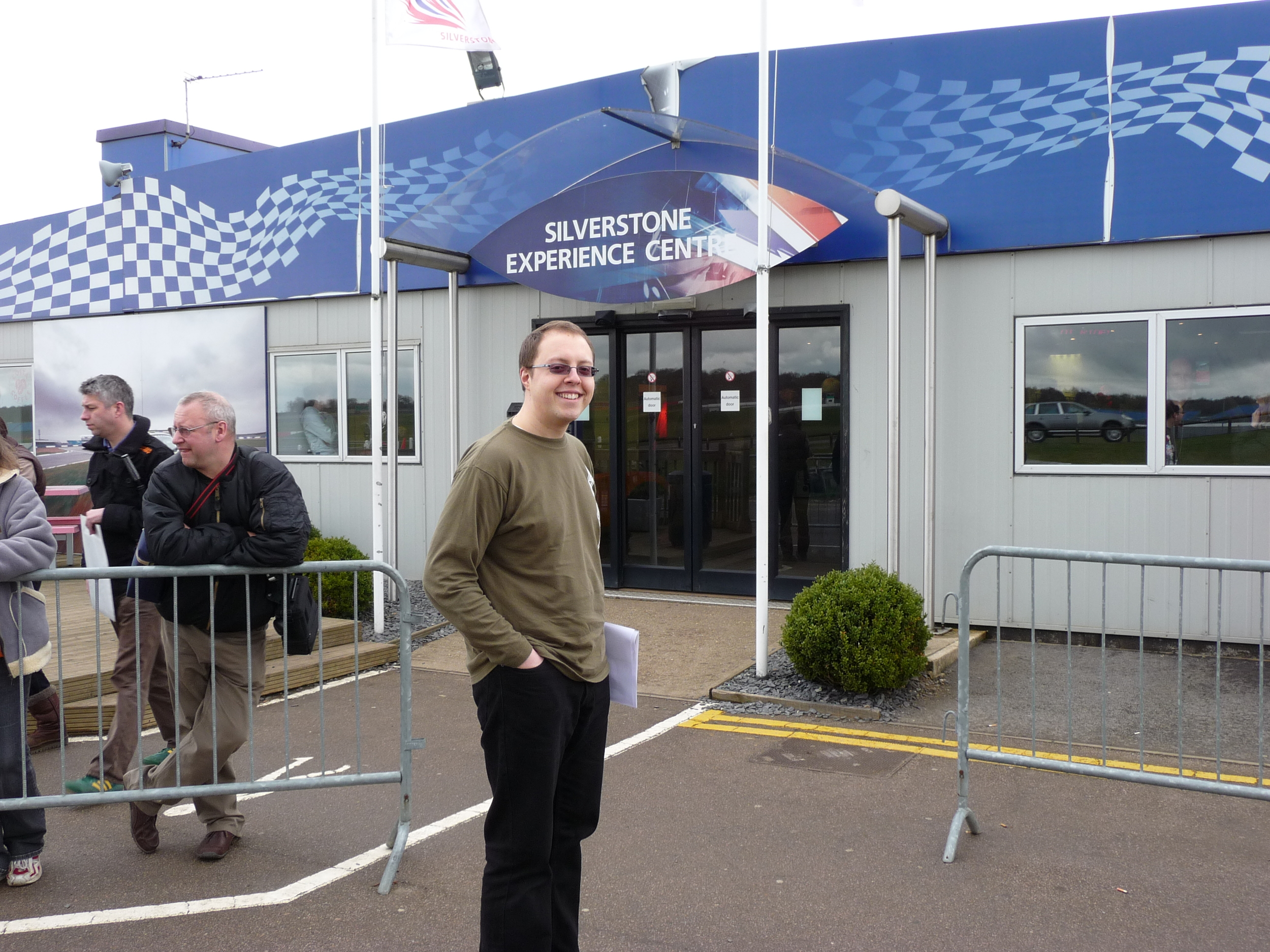 The Writing Man arrives at Silverstone for his Ferrari driving experience