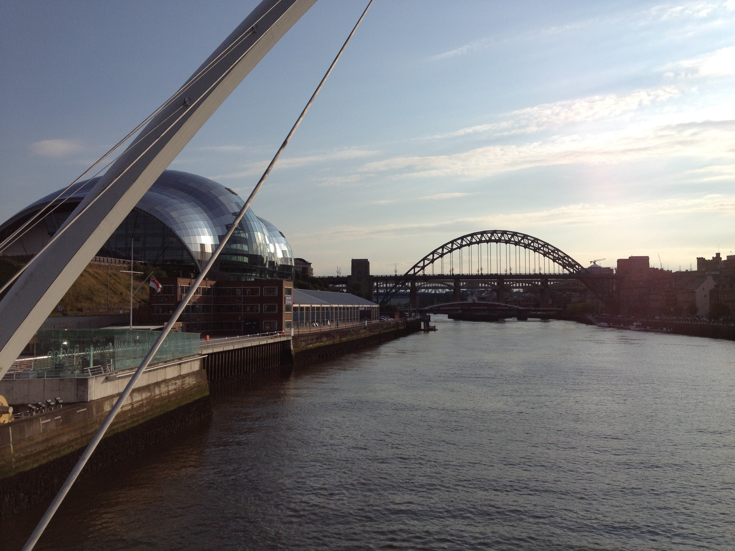 The Sage Gateshead and the Tyne Bridge, photo by Paul Forrester