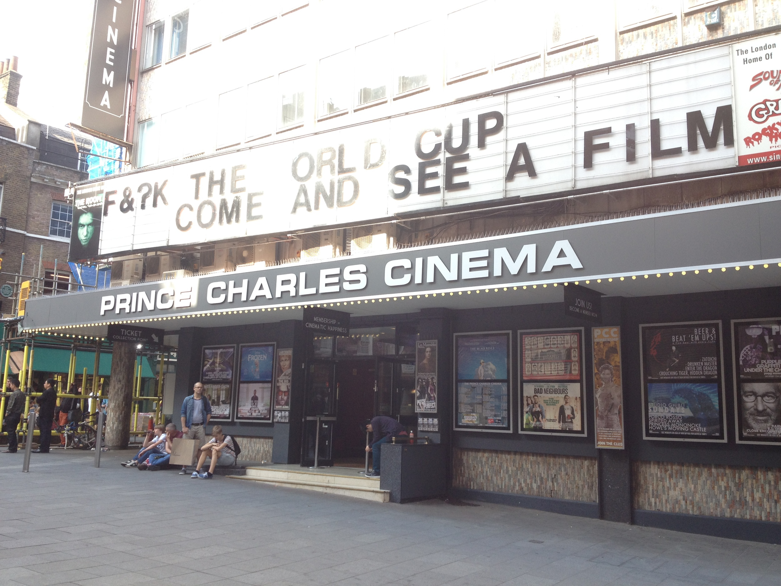 The Prince Charles Cinema in June 2014. Photograph by Paul Forrester
