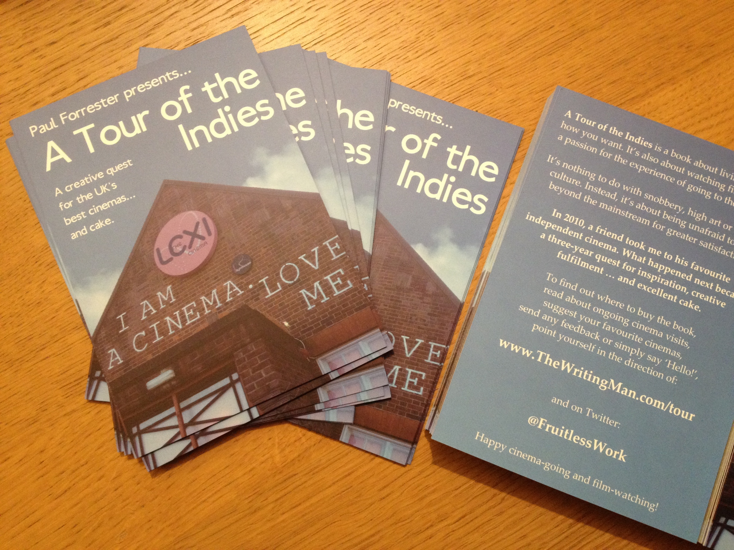 A Tour of the Indies  promotional postcards (photograph by Paul Forrester)