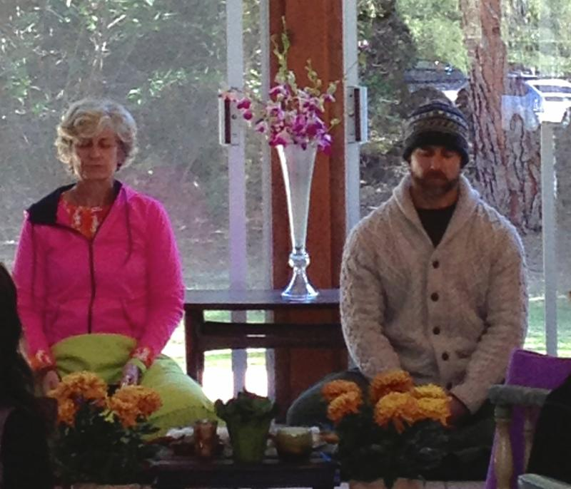 Diana & Pete leading winter retreat at Questhaven
