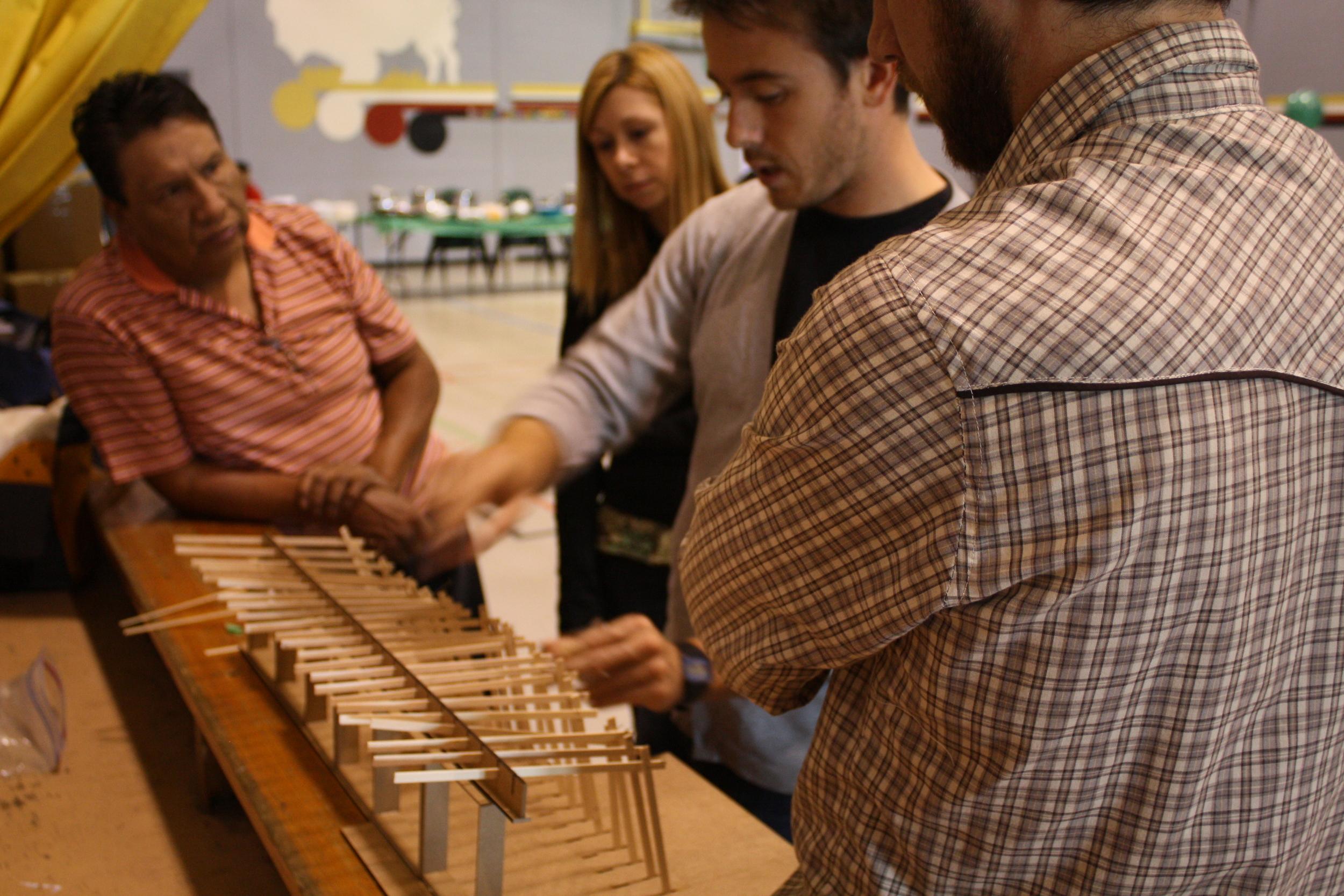 GreenShed model at community design session in Standing Buffalo Dakota Nation