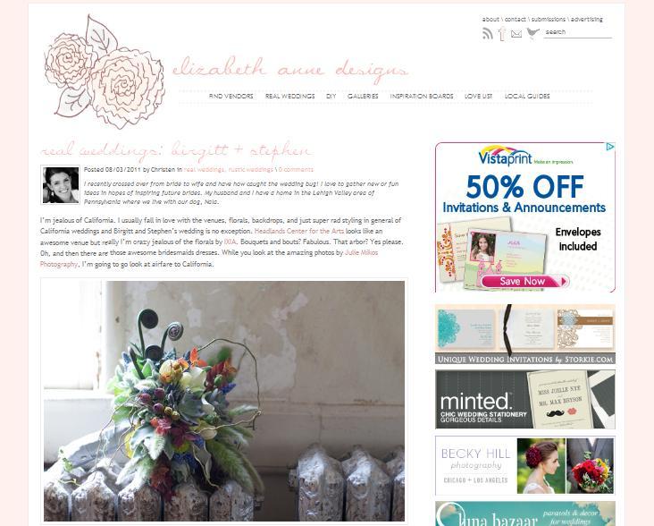 Wedding on Elizabeth Anne Designs
