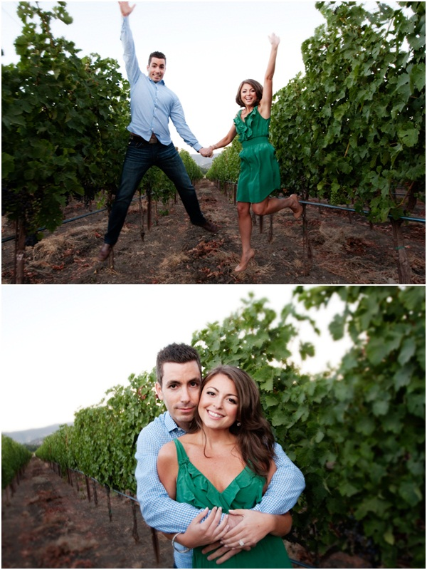 Yountville wine country engagement session 2