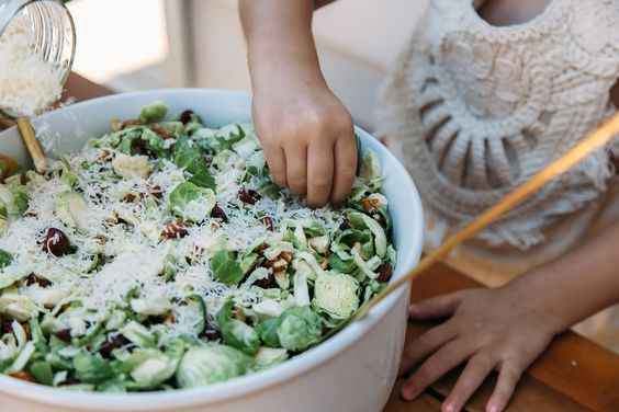 making brussels sprouts salad