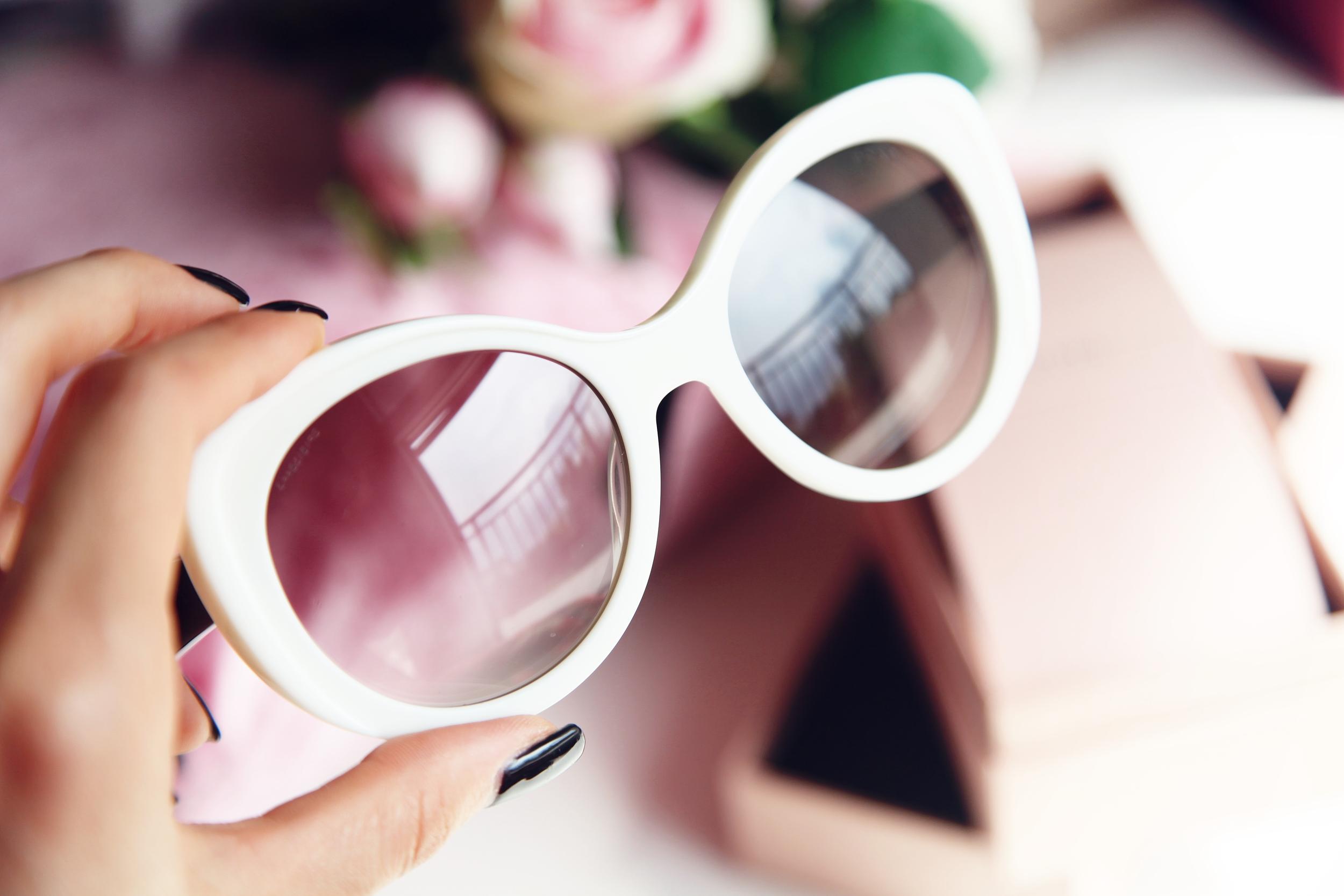 White Prada Sunglasses Dyrogue